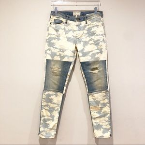 Current Elliott ankle skinny denim cloud jeans